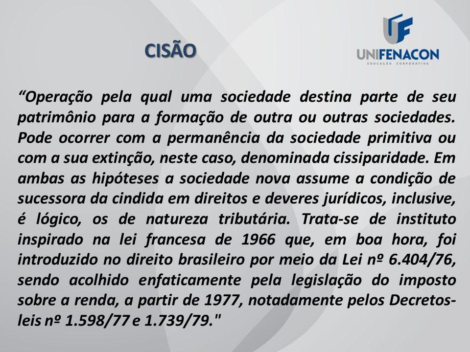 FUSÃO Instituto definido legalmente pelo art.