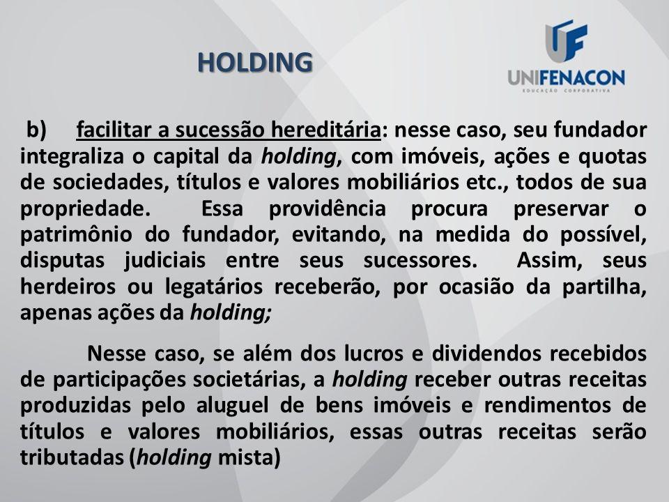 HOLDING HOLDING A palavra inglesa holding deriva do verbo to hold, que significa segurar, manter, controlar, guardar.
