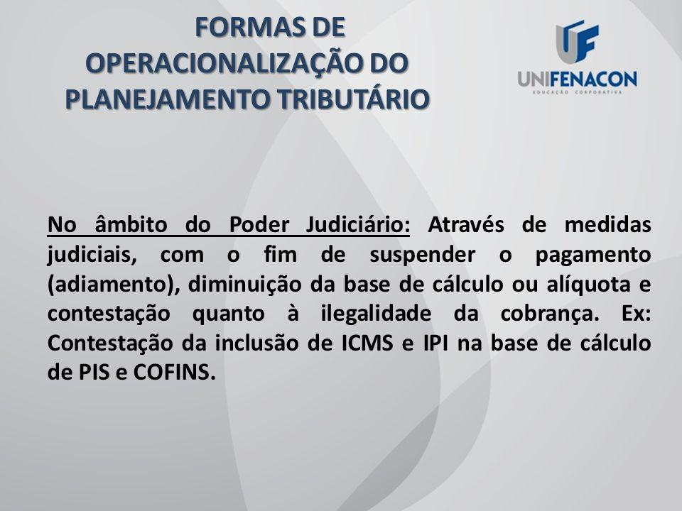 EXEMPLO 1: SOLICITAÇÃO PARA RECEITA FEDERAL, DA MUDANÇA DO ENQUADRAMENTO DE IPI DE DETERMINADO PRODUTO EXEMPLO 2: SOLICITAÇÃO PARA RECEITA FEDERAL, DE POSICIONAMENTO, ATRAVÉS DE CONSULTA, A RESPEITO DE CRÉDITAMENTO DE PIS E COFINS, NO LUCRO REAL FORMAS DE OPERACIONALIZAÇÃO DO PLANEJAMENTO TRIBUTÁRIO