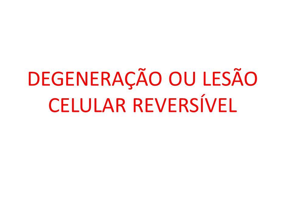 AGRESSOR RETENÇÃO SÓDIO REDUÇÃO POTÁSSIO AUMENTO DA PRESSÃO OSMÓTICA INTRACELULAR ENTRADA DE ÁGUA NO CITOPLASMA EXPANSÃO DA CÉLULA DEGENERAÇÃO HIDRÓPICA MECANISMO DA DEGENERAÇÃO HIDRÓPICA