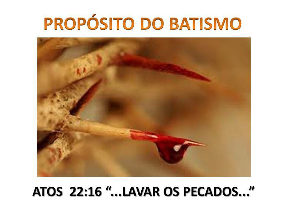 ATOS 22:16...LAVAR OS PECADOS...