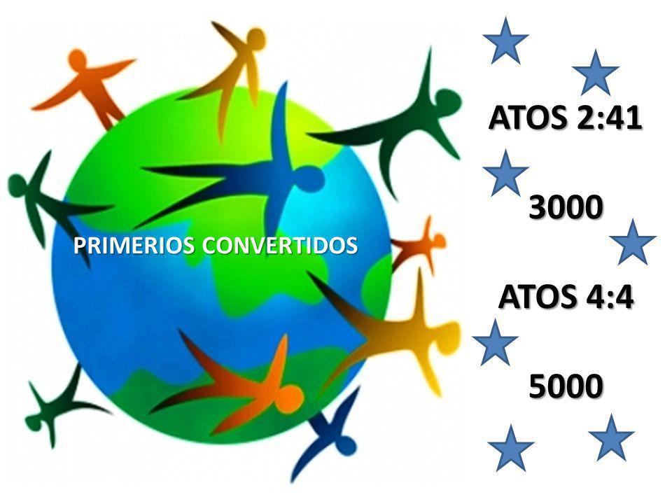 PRIMERIOS CONVERTIDOS ATOS 2:41 3000 ATOS 4:4 5000