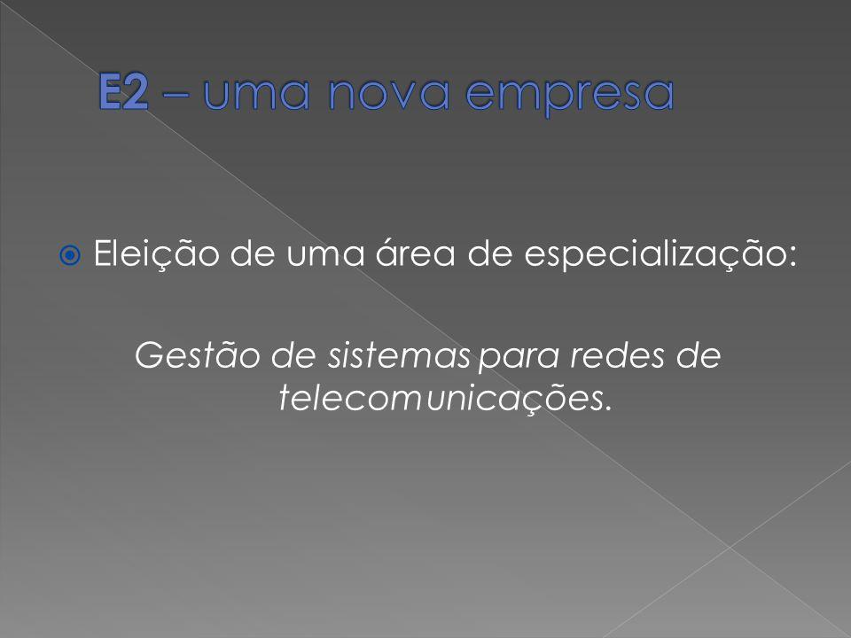 Eleição de uma área de especialização: Gestão de sistemas para redes de telecomunicações.