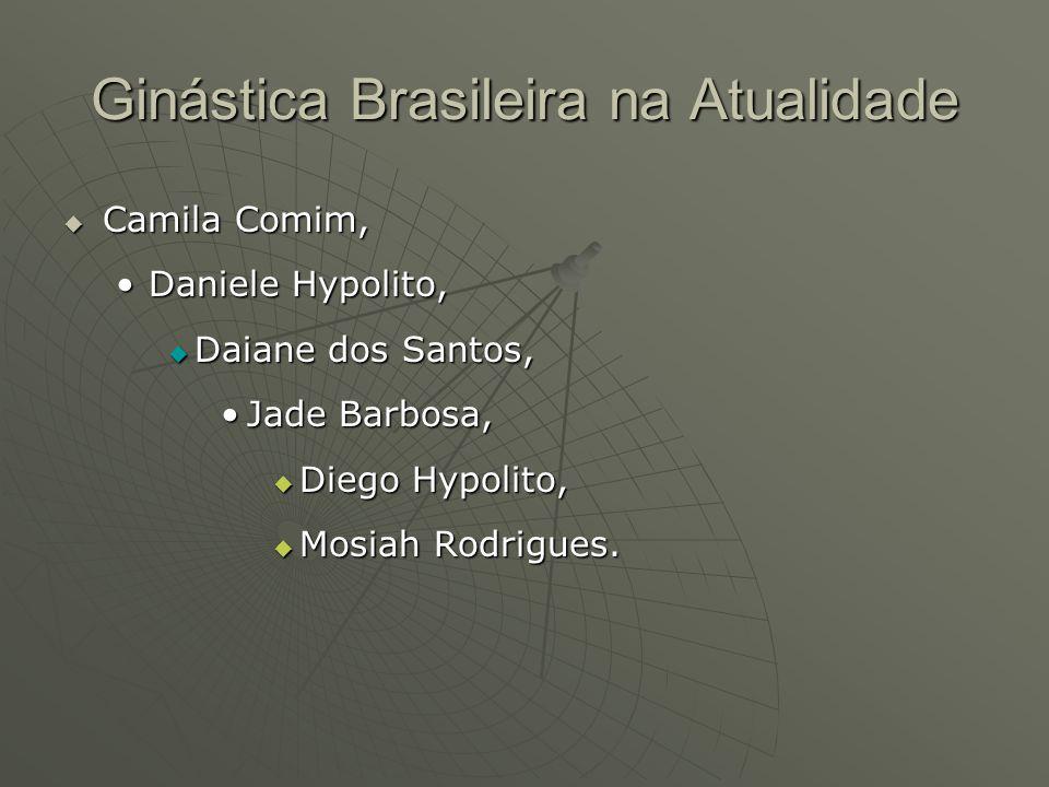 Ginástica Brasileira na Atualidade Camila Comim, Camila Comim, Daniele Hypolito,Daniele Hypolito, Daiane dos Santos, Daiane dos Santos, Jade Barbosa,J