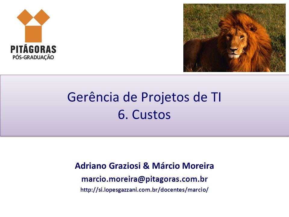 Adriano Graziosi & Márcio MoreiraUnidade 06 - slide 22 de 33Gestão de Projetos de TI - GPTI Gestão do valor agregado Earned Value (EV) ou Valor Agregado (VA): VA (EV) = % Físico Concluído x Valor Planejado (VP) O GP deve coletar o % Físico Concluído com a equipe: Se não for possível calcular este % podemos utilizar: Regra 50/50:50% ao iniciar e 50% somente quando terminar Regra 20/80:20% ao iniciar e 80% somente quando terminar Regra 0/100: 0% ao iniciar e 100% somente quando terminar Fórmulas do % Realizado: % Concluído= Duração Realizada/ Duração Planejada % Trabalho Concluído= Trabalho Realizado/ Trabalho Planejado % Concluído por VA= VA Realizado/ Valor Planejado