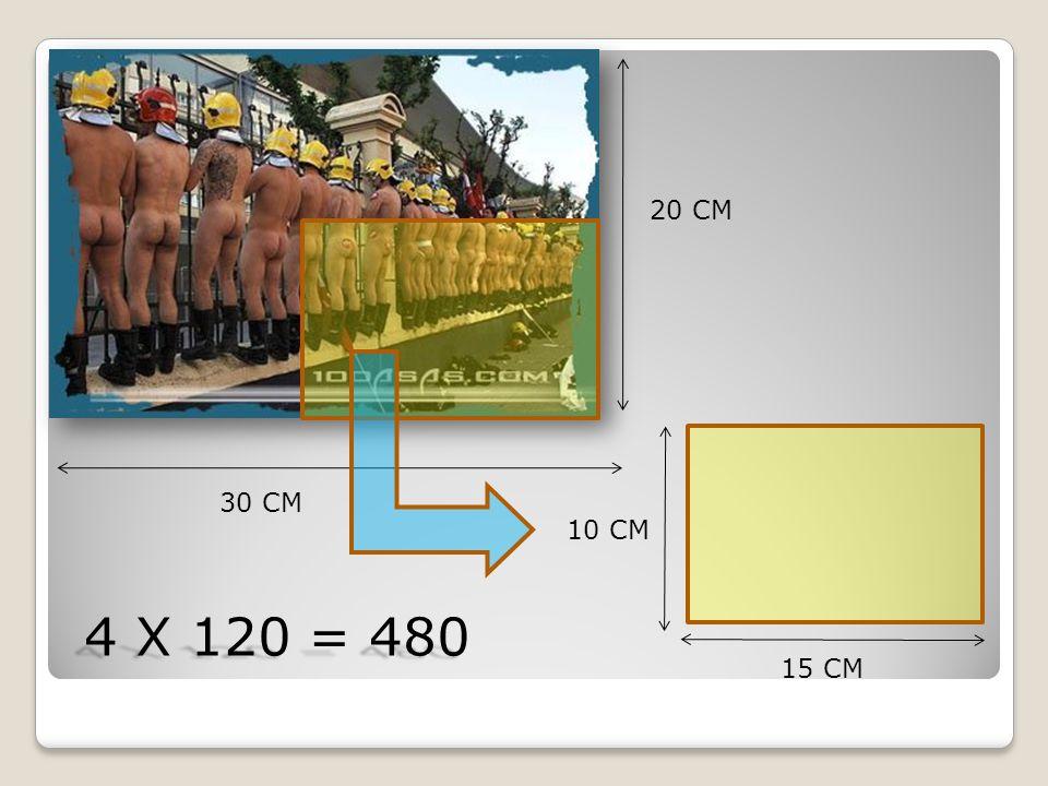 20 CM 30 CM 15 CM 10 CM 4 X 120 = 480