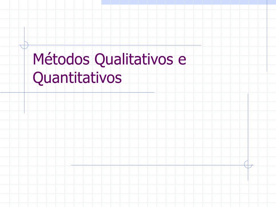 Qualitativa x Quantitativa Métodos Complementares.