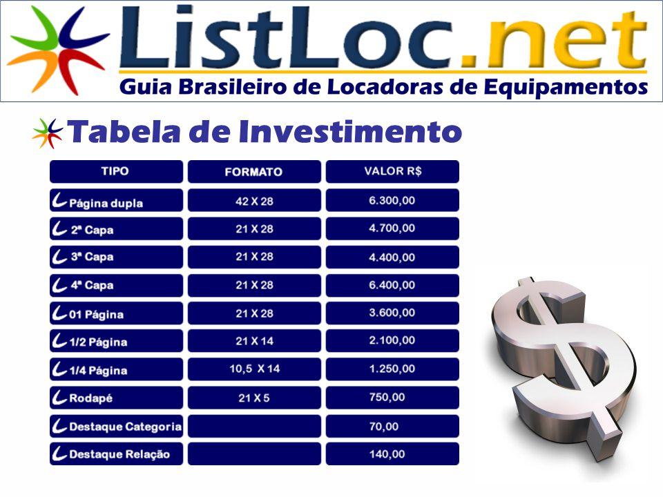 Tabela de Investimento