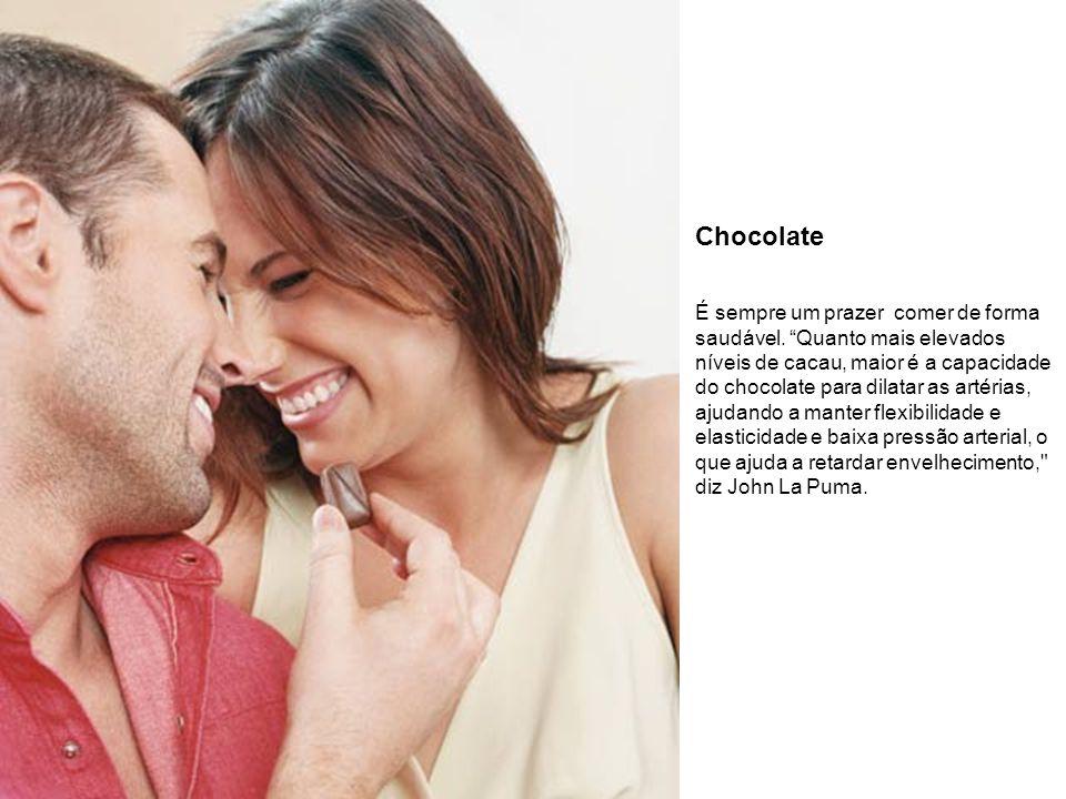 Chocolate É sempre um prazer comer de forma saudável. Quanto mais elevados níveis de cacau, maior é a capacidade do chocolate para dilatar as artérias