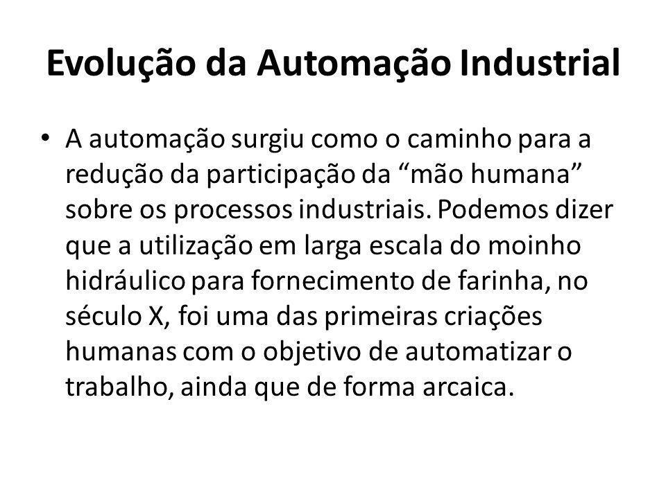A automação surgiu como o caminho para a redução da participação da mão humana sobre os processos industriais. Podemos dizer que a utilização em larga