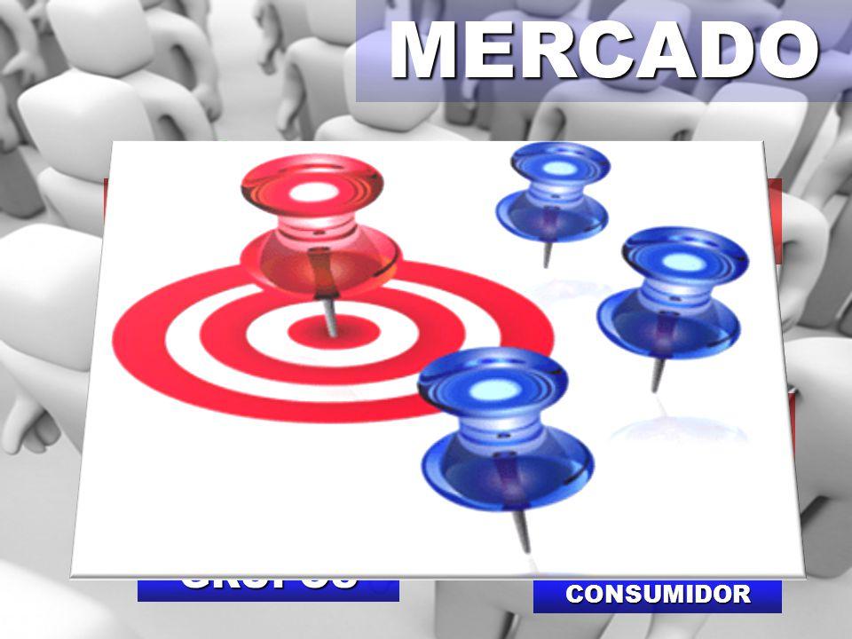 MERCADOPÚBLICO-ALVO Target SEGMENTAÇÃO DE MERCADO GRUPOS PERFIL DO CONSUMIDOR