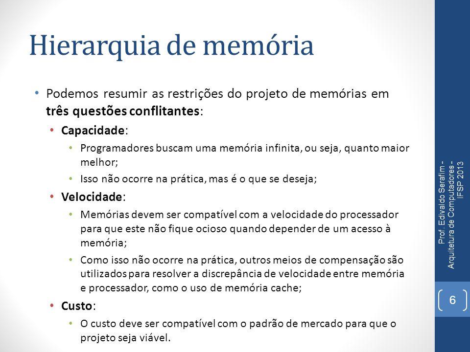 Memória X Processador Prof.