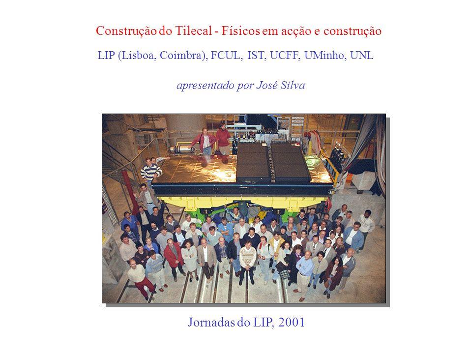 Construção do Tilecal - Físicos em acção e construção apresentado por José Silva Jornadas do LIP, 2001 LIP (Lisboa, Coimbra), FCUL, IST, UCFF, UMinho, UNL