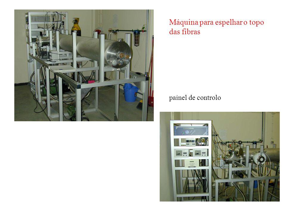 Máquina para espelhar o topo das fibras painel de controlo