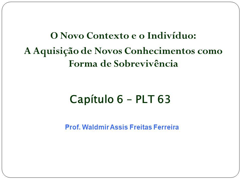 O Novo Contexto e o Indivíduo: A Aquisição de Novos Conhecimentos como Forma de Sobrevivência Prof. Waldmir Assis Freitas Ferreira Capítulo 6 – PLT 63