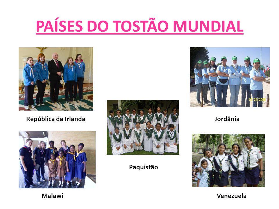 PAÍSES DO TOSTÃO MUNDIAL JordâniaRepública da Irlanda Malawi Paquistão Venezuela