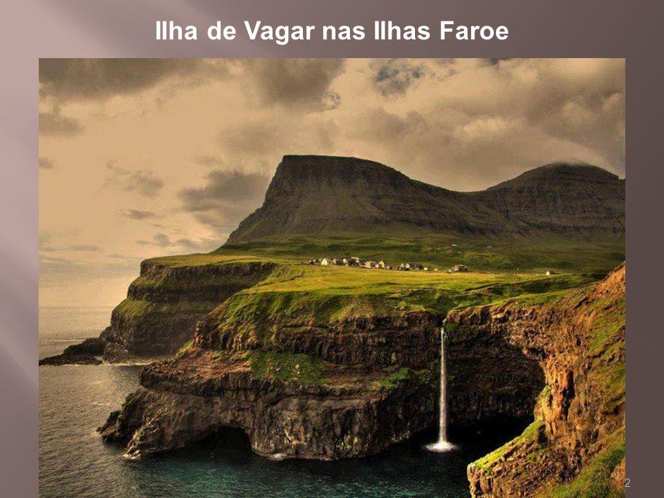 2 Ilha de Vagar nas Ilhas Faroe