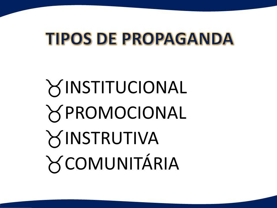 _INSTITUCIONAL _PROMOCIONAL _INSTRUTIVA _COMUNITÁRIA