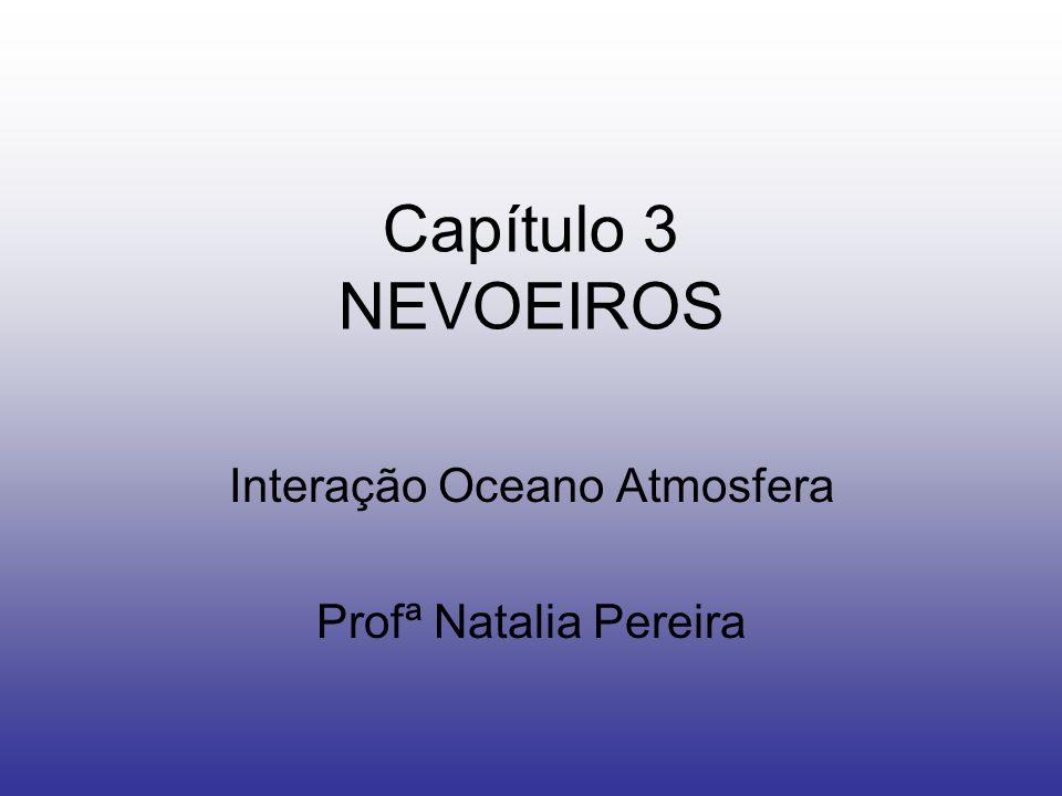 Capítulo 3 NEVOEIROS Interação Oceano Atmosfera Profª Natalia Pereira