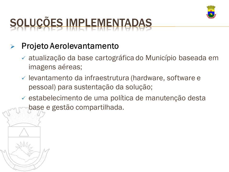 Projeto Aerolevantamento atualização da base cartográfica do Município baseada em imagens aéreas; levantamento da infraestrutura (hardware, software e