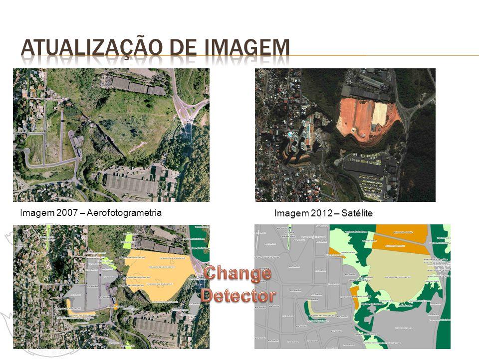 Imagem 2007 – Aerofotogrametria Imagem 2012 – Satélite