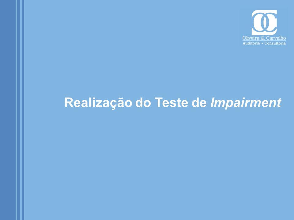 Realização do Teste de Impairment