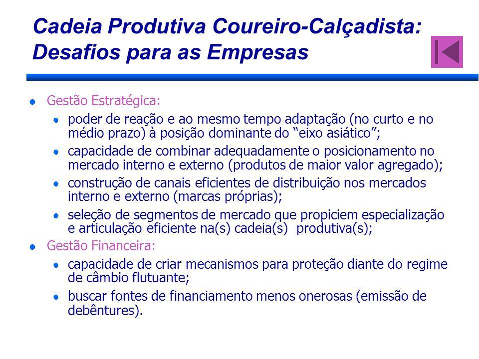 Cadeia Produtiva Coureiro-Calçadista: Desafios para as Empresas Gestão Estratégica: poder de reação e ao mesmo tempo adaptação (no curto e no médio pr