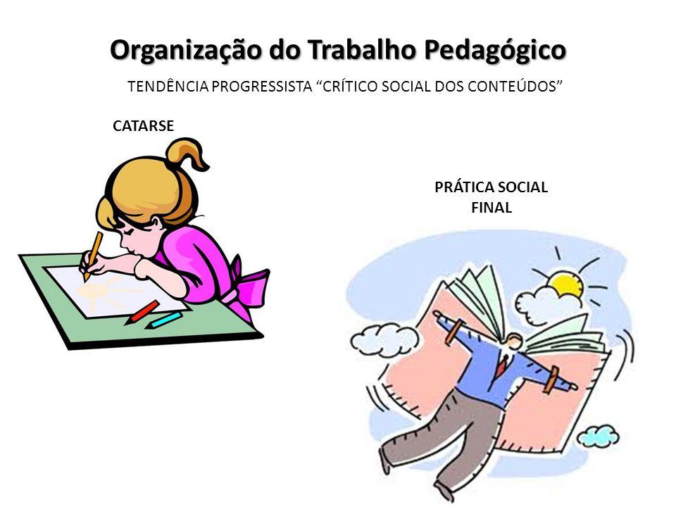 Organização do Trabalho Pedagógico TENDÊNCIA PROGRESSISTA CRÍTICO SOCIAL DOS CONTEÚDOS CATARSE PRÁTICA SOCIAL FINAL