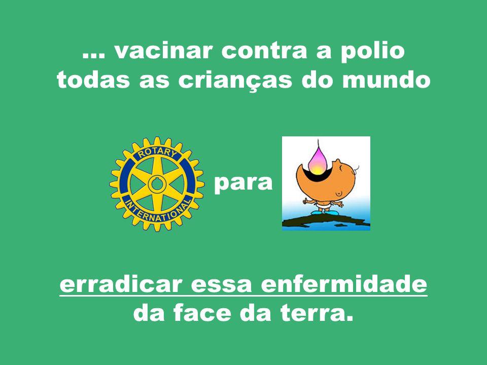 Em 1985 Rotary empreendeu a campanha de vacinação PolioPlus … com a finalidade de…