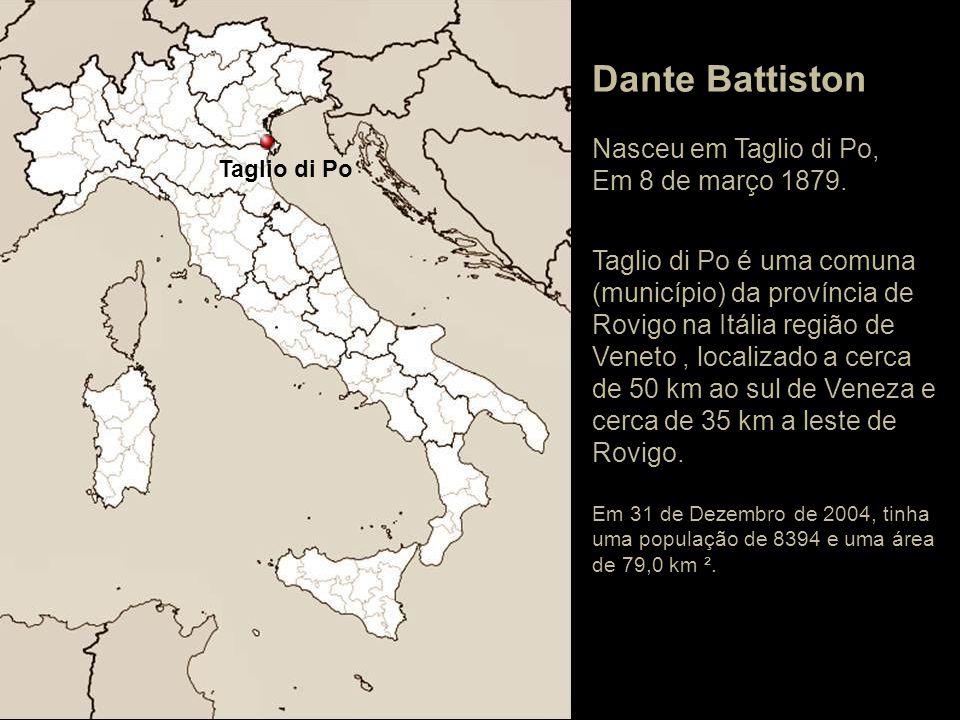 Taglio di Po Dante Battiston Nasceu em Taglio di Po, Em 8 de março 1879.