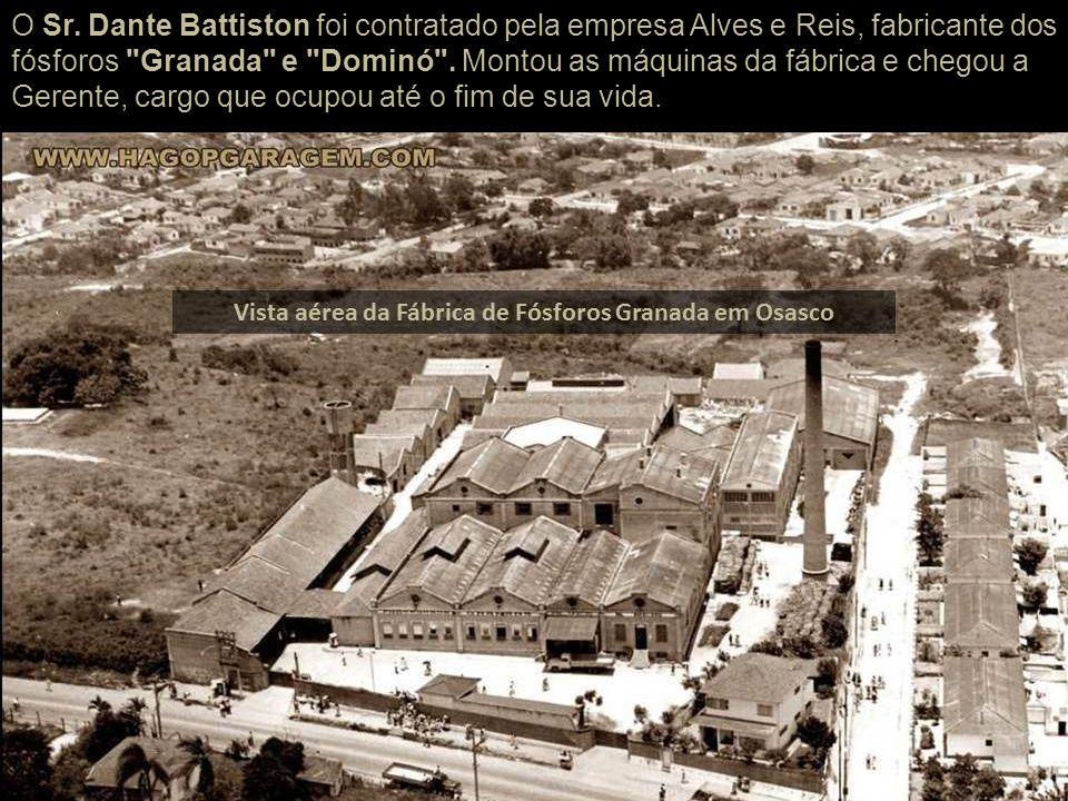 Dante Battiston em 1929, veio para Osasco com a família, residindo no Chalé Brícola, onde hoje está o museu Dimitri Sensaud de Lavoud. Familiares de D