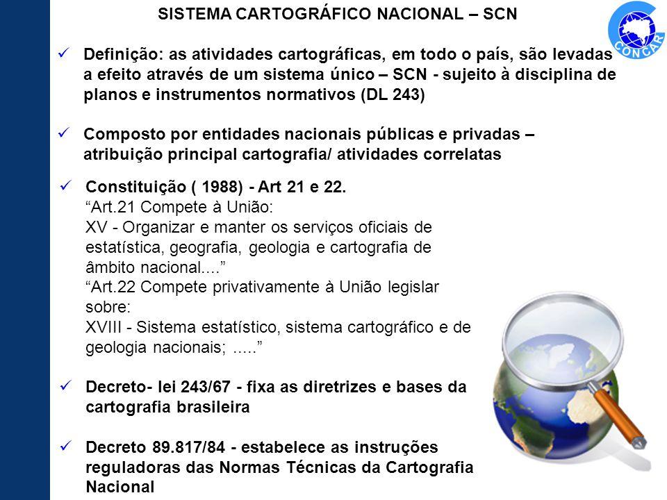 Constituição ( 1988) - Art 21 e 22. Art.21 Compete à União: XV - Organizar e manter os serviços oficiais de estatística, geografia, geologia e cartogr