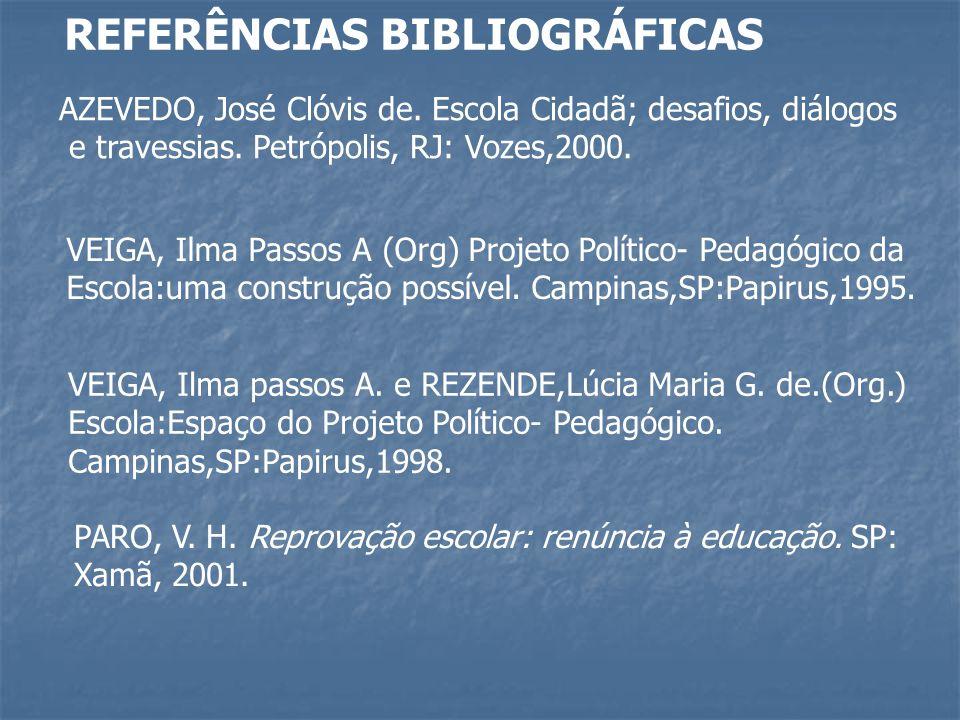 REFERÊNCIAS BIBLIOGRÁFICAS AZEVEDO, José Clóvis de.