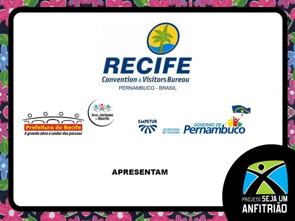OBJETIVO Fomentar o desenvolvimento do turismo de eventos em Pernambuco através de ações motivacionais voltadas para o público com poder de decisão dos eventos itinerantes nacionais e internacionais.