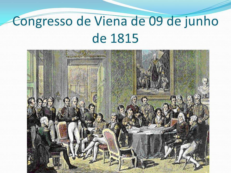 Congresso de Viena de 09 de junho de 1815