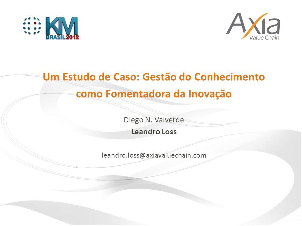 Um Estudo de Caso: Gestão do Conhecimento como Fomentadora da Inovação Diego N. Valverde Leandro Loss leandro.loss@axiavaluechain.com