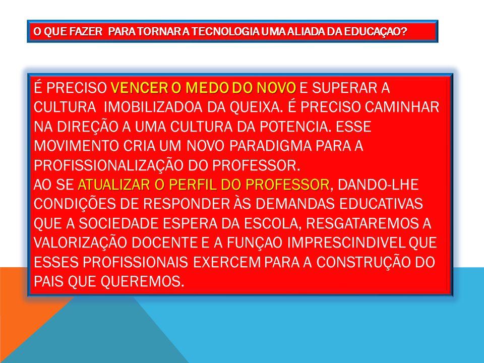O QUE FAZER PARA TORNAR A TECNOLOGIA UMA ALIADA DA EDUCAÇAO.