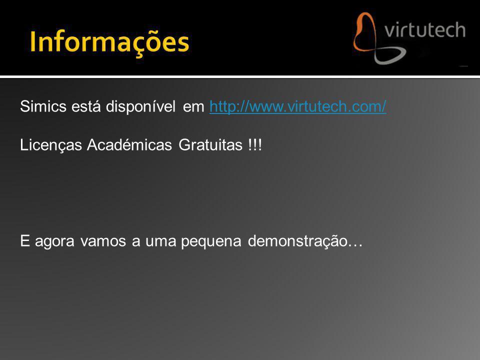 Simics está disponível em http://www.virtutech.com/http://www.virtutech.com/ Licenças Académicas Gratuitas !!! E agora vamos a uma pequena demonstraçã