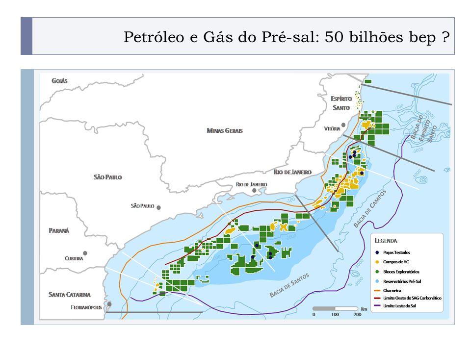 PROGRAMA PLACTED Petróleo e Gás do Pré-sal: 50 bilhões bep ?.
