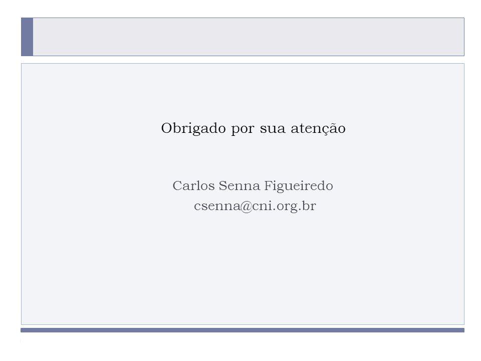 PROGRAMA PLACTED Carlos Senna Figueiredo csenna@cni.org.br Obrigado por sua atenção PROGRAMA PLACTED
