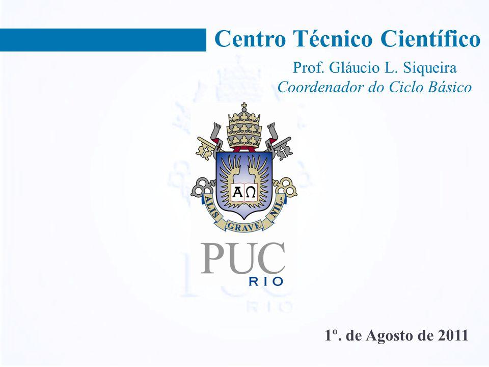 Centro Técnico Científico 1º. de Agosto de 2011 Prof. Gláucio L. Siqueira Coordenador do Ciclo Básico