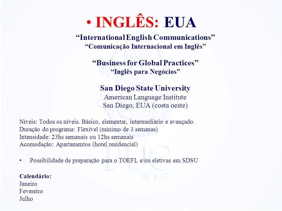 International English Communications Comunicação Internacional em Inglês Business for Global Practices Inglês para Negócios San Diego State University
