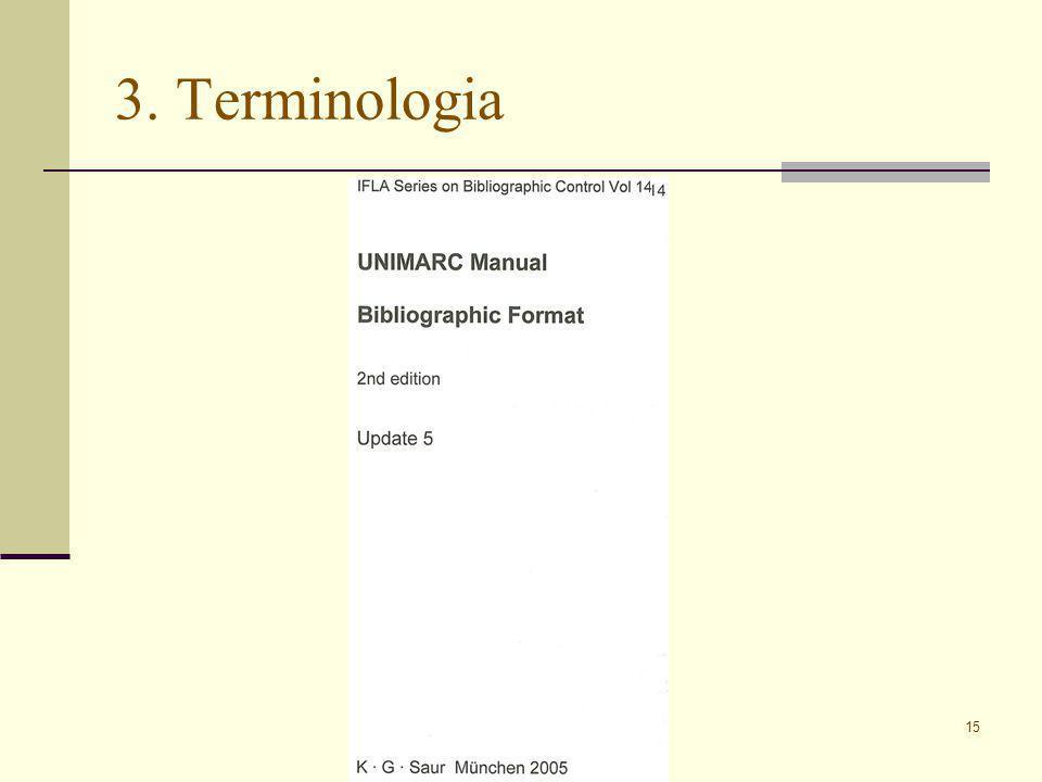 15 3. Terminologia