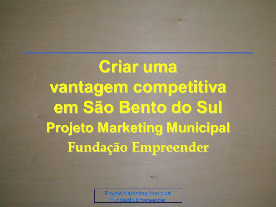 Projeto Marketing Municipal Fundação Empreender Criar uma vantagem competitiva em São Bento do Sul Projeto Marketing Municipal Fundação Empreender