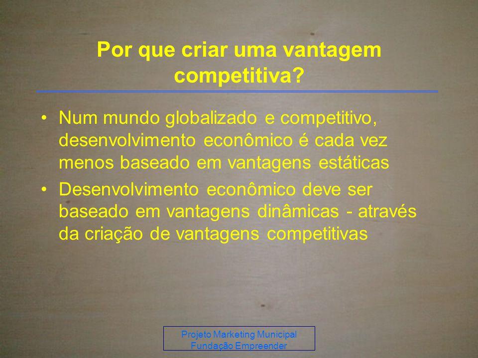 Projeto Marketing Municipal Fundação Empreender Por que criar uma vantagem competitiva.