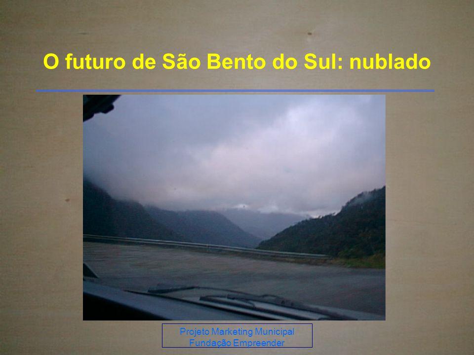 Projeto Marketing Municipal Fundação Empreender O futuro de São Bento do Sul: nublado