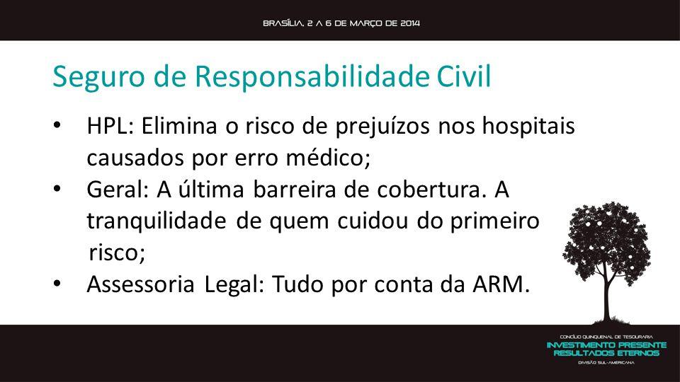 Seguro de Responsabilidade Civil HPL: Elimina o risco de prejuízos nos hospitais causados por erro médico; Geral: A última barreira de cobertura.
