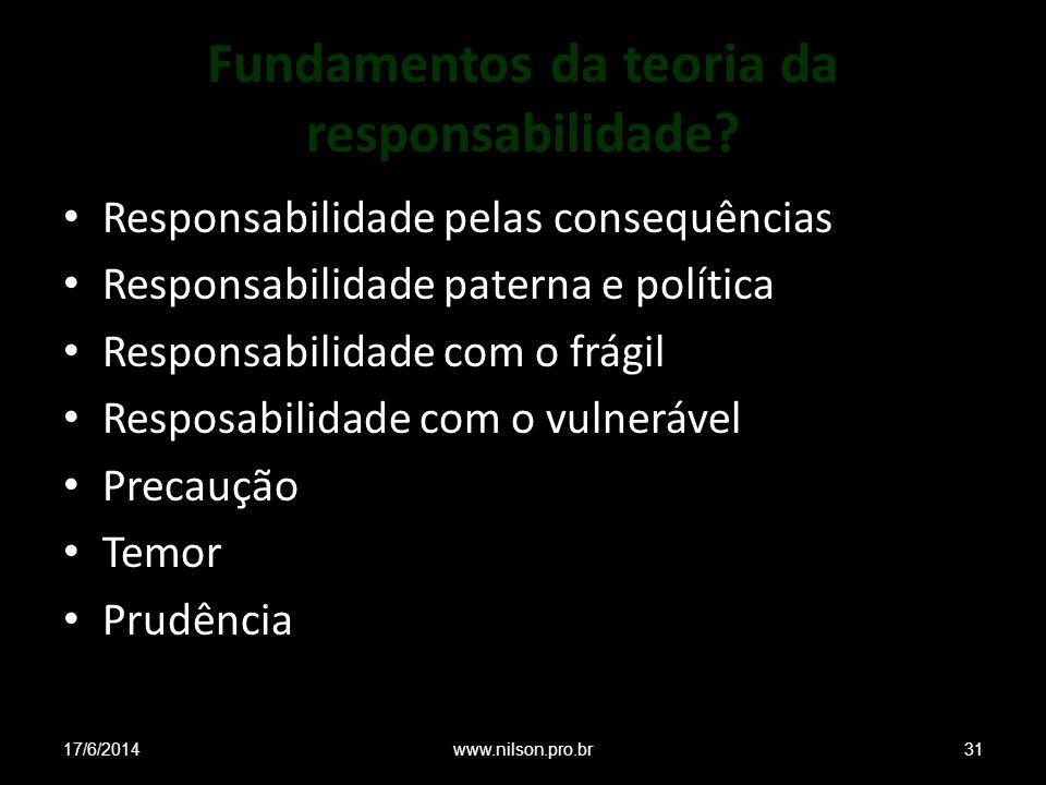 Fundamentos da teoria da responsabilidade.