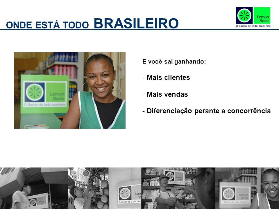 ONDE ESTÁ TODO BRASILEIRO E você sai ganhando: - Mais clientes - Mais vendas - Diferenciação perante a concorrência