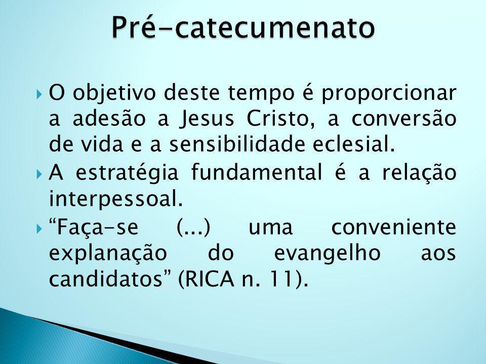 O objetivo deste tempo é proporcionar a adesão a Jesus Cristo, a conversão de vida e a sensibilidade eclesial.